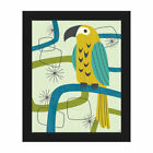 Click Wall Art 'Retro Parrot' Framed Graphic Art Print on Canvas