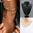 Fashion Necklace Chain Charm Jewelry Crystal Choker Chunky Statement Bib Pendant