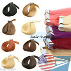 20/40/60pcs Tape in Seamless Weft 100% Remy Human Hair Extensions USA Stock 16""