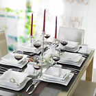 MALACASA Series FLORA Ceramic Dinner Set Porcelain Home Kitchen Dinnerware Plate