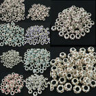 20pcs 11mm Crystal Rhinestone Silver Spacer European Large Hole Charm Beads