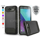 QUANTUM ARMOR COVER PHONE CASE FOR [SAMSUNG GALAXY J3 PRIME] +TEMPERED GLASS