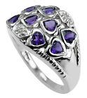 1.16 Ct. Natural Amethyst Heart Ring 925 Sterling Silver Anniversary Top Jewerly