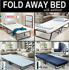 Portable Folding Bed Single Size Deluxe Mattress Fold Up Away Camping Outdoor