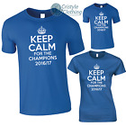 Keep Calm for the CHAMPIONS 2016/17 T-Shirt, Chelsea Champions Mens Ladies Kids