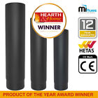 Vitreous Enamel Stove Pipe Black Stove Pipe Various Sizes HETAS APPROVED snh