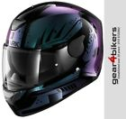 Shark D-SKWAL Dharkov Chameleon Green Purple Motorcycle Helmet Motorbike Scooter