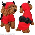 Pet Dog Cat Red Devil Bat Halloween Xmas Gift Fancy Dress Costume Outfit Clothes