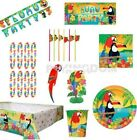 8 GUESTS - HAWAIIAN TROPICAL ISLAND LUAU SUMMER TABLEWARE DECORATIONS KIT