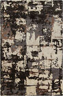 17 Stories Powell Brown & Black Abstract Area Rug