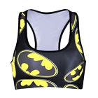 Gym Fitness Sport Bra Padded Gym Bra Batman Printed Athletic Bra top 0029
