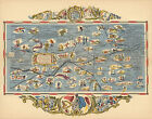 Vintage Pictorial Map Kansas Wall Art Poster Print Decor Antique Old History