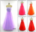 Uk Stock Long Evening Formal Party Ball Gown Prom Wedding Bridesmaid Dress 9098#
