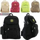 WOMENS MENS NEW MULTIPLE POCKETS CANVAS HIKING BACKPACK RUCKSACK