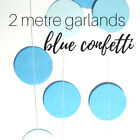 2M blue circle paper garlands for wedding party baby shower drop decorations
