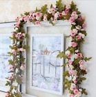 Shabby Chic Rose Spiral Flower Vintage Style 7ft  WEDDING String Bedroom