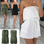 US Sexy Womens Holiday Casual Mini Playsuit Ladies Jumpsuit Summer Beach Dress