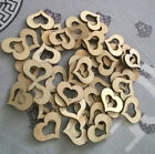 Blank Hollow Wooden Heart Embellishments Crafts Wood Color Party Event 30mm
