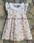 Smocked A Lot Dress Rose Garden Vintage inspired Cream Floral Lace Pleats