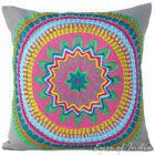 "16/18"" Gray Grey Embroidered Decorative Sofa Pillow Cushion Throw Cover Indian B"