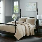 Posh Linen Cotton Quilted Coverlet with  Decorative Shams