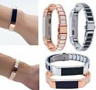 Stainless Steel Accessory Strap Metal Band Link Bracelet For Fitbit Alta & HR
