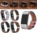 Genuine Leather Wristband Replacement Band Strap Bracelet For Fitbit charge 2