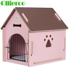 Home Outdoor Wood Dog House Pet Shelter Bed Kennel Weather Resistant Puppy Room