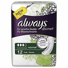 Always Discreet Sensitive Bladder Normal Pack of 12 Pads