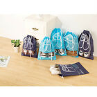 10pcs Non-Woven Portable Tidy Shoe Bag Travel Pack Dust Proof with Drawstring