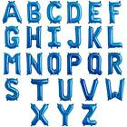 """ALPHABET LETTER A-Z BLUE Foil Balloons 34"""" Giant Helium Quality/Airfill {APAC}"""