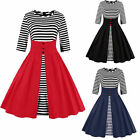 Vintage Swing Rockabilly Cocktail Party 1950s Women Plus Size Dress Black Red