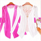 Womens Long sleeve Cardigan knitwear crochet knitted sweater Thin top Coat