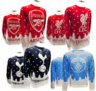 Official Football Club - CHRISTMAS JUMPER (S/M/L/XL) Snow/Tree/Crest (Xmas/Gift)
