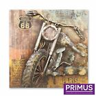 Primus Contemporary Hand Painted Iron Wall Art Pictures Chopper London Bus