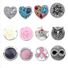 Charm Rose Owl LOVE Star Click On Button Charm For Popper Leather Bracelet US