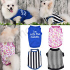 Внешний вид - Small Pet Puppy Dog Cat Pet Summer Clothes Cotton Vest T Shirt Apparel Costumes