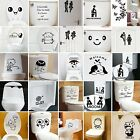 Toilet Seats Art Wall Stickers Quote Bathroom Decoration Art Decal Home Decor Nt