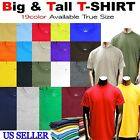 Big and Tall Sizes Mens Tee Shirts Premium Quality S/S T Crew Neck  3XL TO 8XL