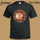 New Indian Motorcycle 1901 Classic Circle Logo Men's Black T Shirt Size S to 3XL