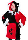 DC Comics Harley Quinn Costume Exclusive Adult Hooded Fleece Bathrobe