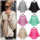 Women's Batwing Sleeve Sweater Oversized Baggy Loose Casual Jumper Pullover Tops