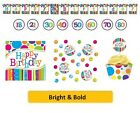 AGE 50 - BRIGHT & BOLD Party Tableware Disposable Birthday Supplies {CREATIVE}