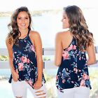 Fashion Summer Women Vest Halter Sleeveless Floral Casual Tank Top Shirt N98B
