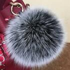 Real Fox Fur Fluffy Pom Ball AU Winter Key Ring 10Color Handbag genuine Outwear