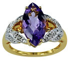 Natural Amethyst 3.39 Ct. With White Topaz Ring 925 Silver Stunning Lady Jewelry
