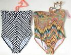 Girls swimming costume ex River Island Swimwear Bandeau Halter neck RRP £14