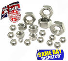 A2 STAINLESS STEEL METRIC HEXAGON FULL NUTS (DIN934) M2 TO M10 - WASHERS & BOLTS