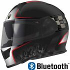 TORC T14B Mako Bluetooth Full Face Motorcycle Dual Visor Helmet - DOT ECE NEW