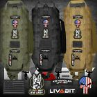 LIVABIT K9 Service Dog Harness Tactical 1000D Molle Vest Military Pet Puppy Cat